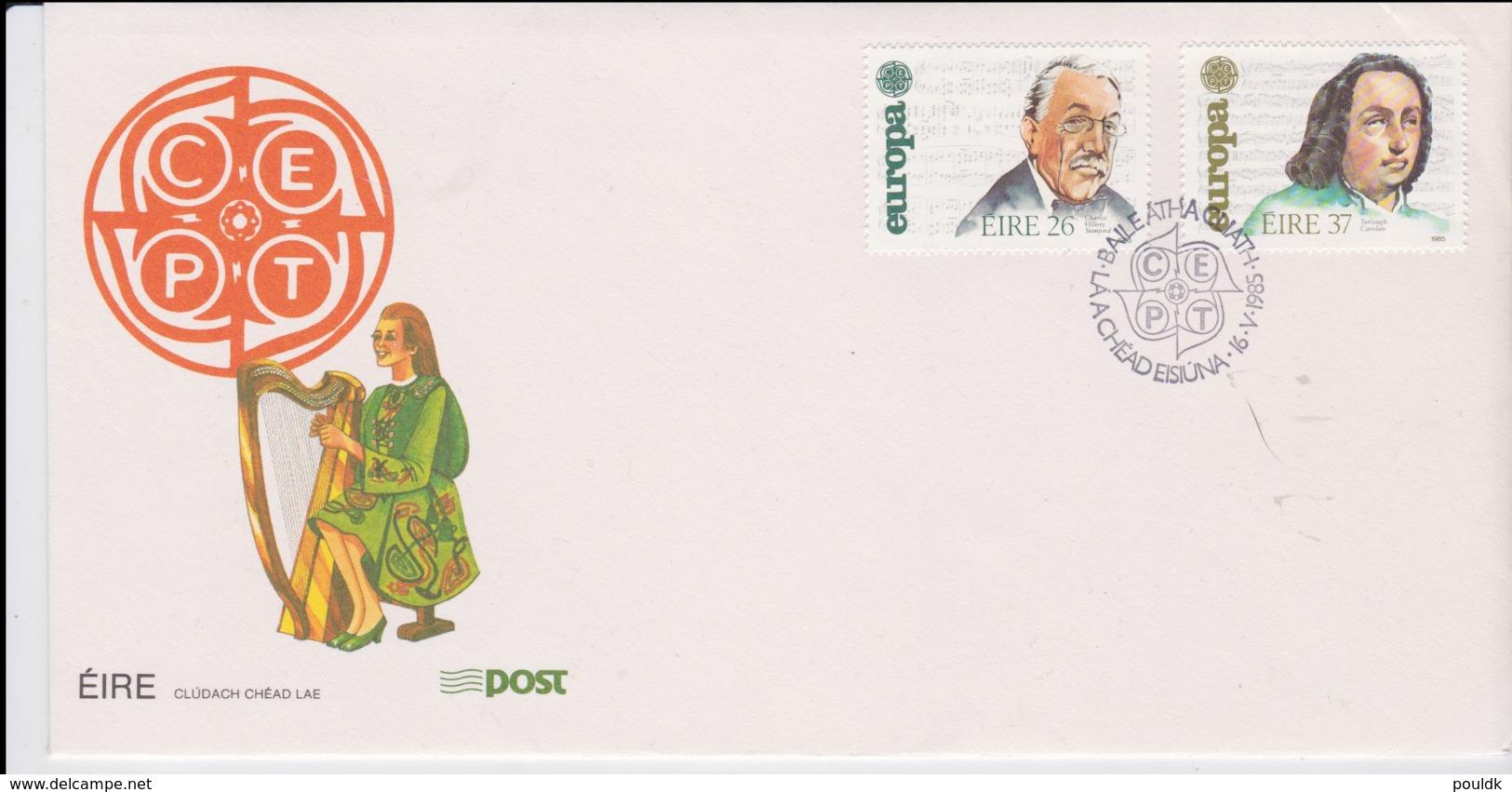 Ireland FDC 1985 Europa CEPT - Cover Bowed Upper Right (NB**LAR8-42) - Europa-CEPT
