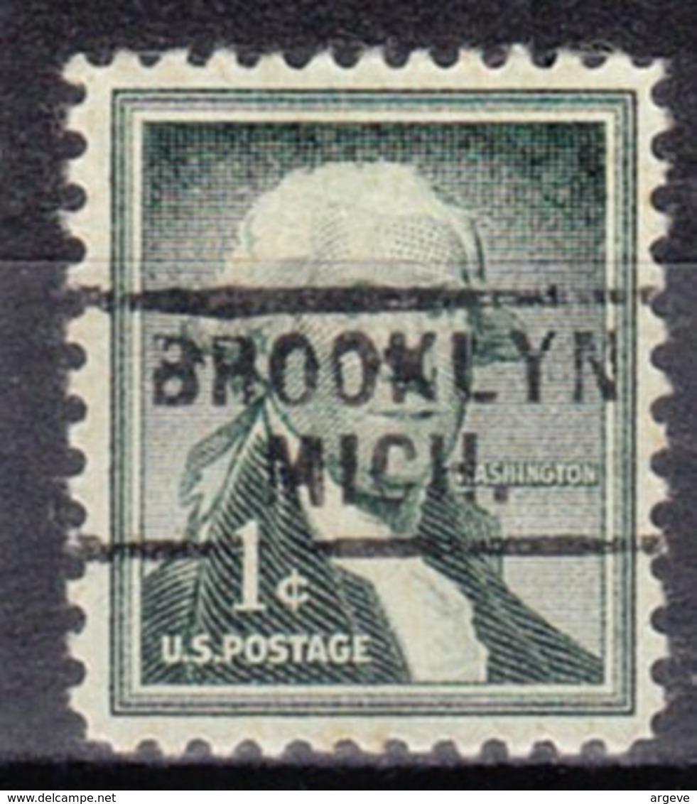 USA Precancel Vorausentwertung Preo, Locals Michigan, Brooklyn 729 - Vereinigte Staaten