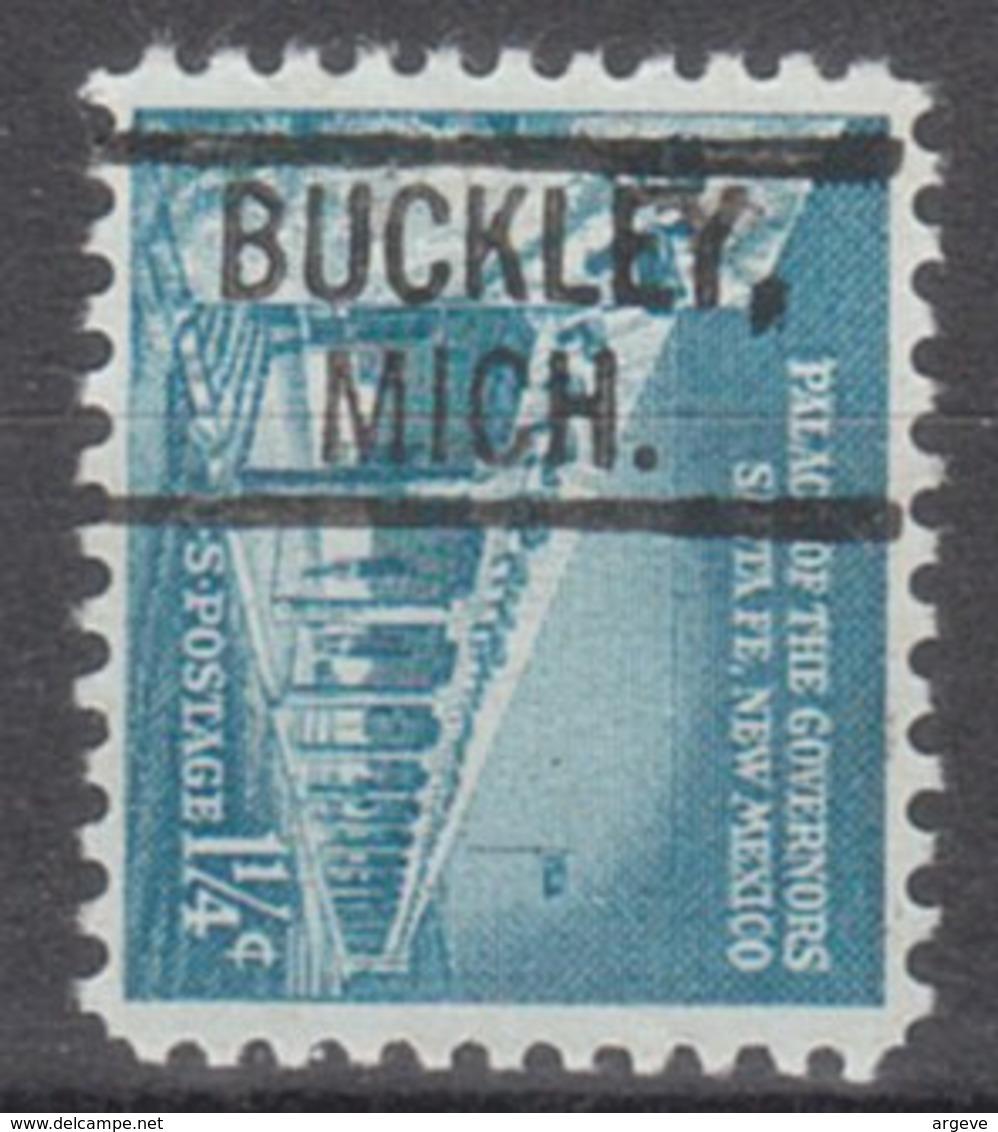 USA Precancel Vorausentwertung Preo, Locals Michigan, Buckley 802 - Vereinigte Staaten