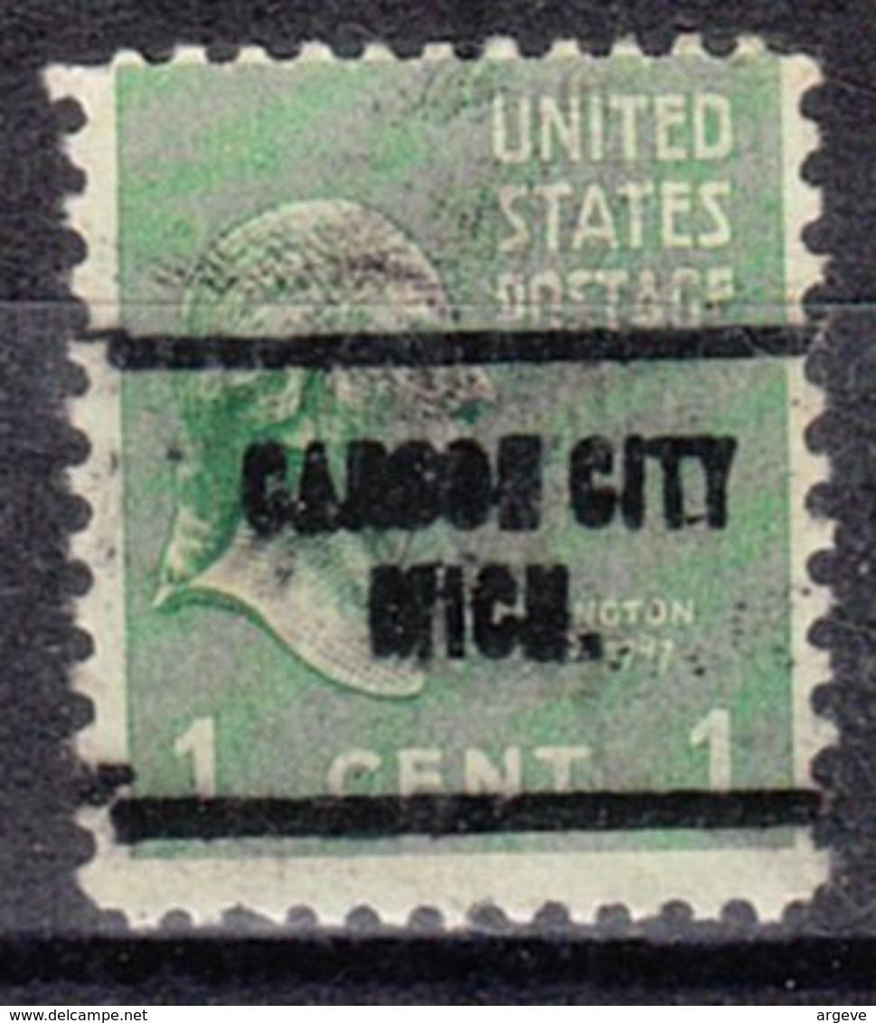 USA Precancel Vorausentwertung Preo, Locals Michigan, Carson City 704 - Vereinigte Staaten