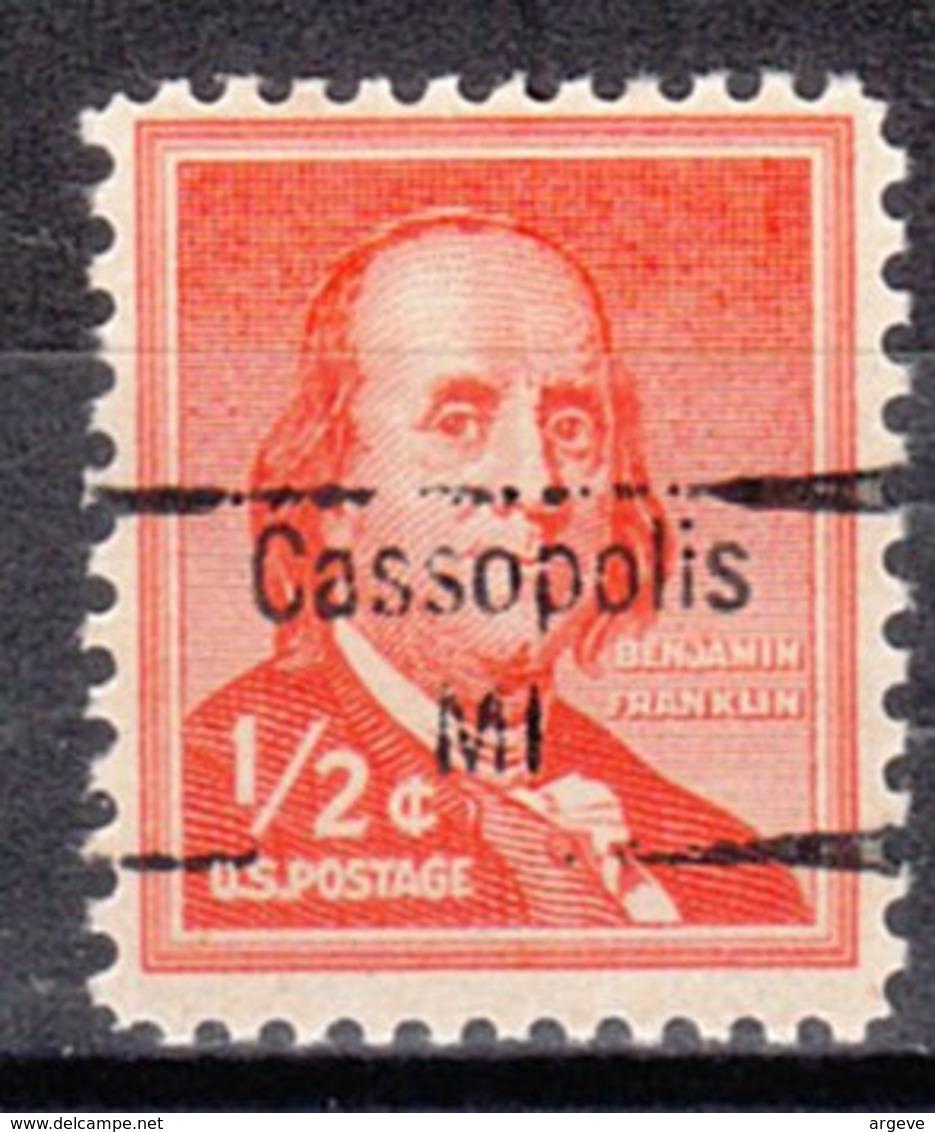 USA Precancel Vorausentwertung Preo, Locals Michigan, Cassopolis 843 - Vereinigte Staaten