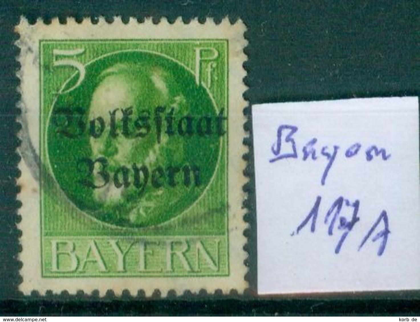 Bayern  MiNr. 117 II A      O / Used  (L998) - Bavaria
