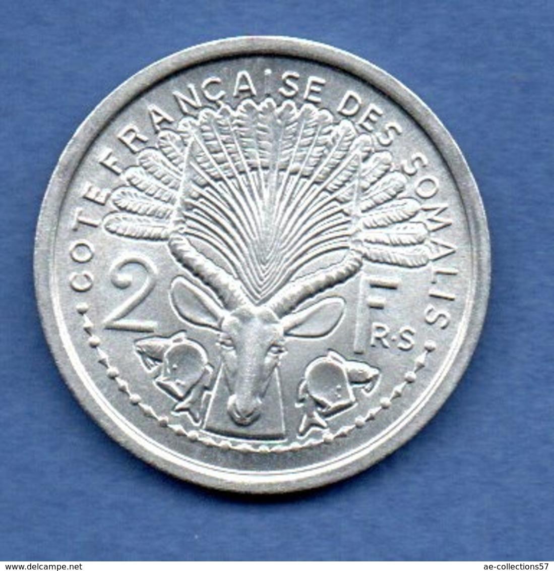 Côtes Des Somalis  -  2 Francs 1965   -  état  SPL - Colonies