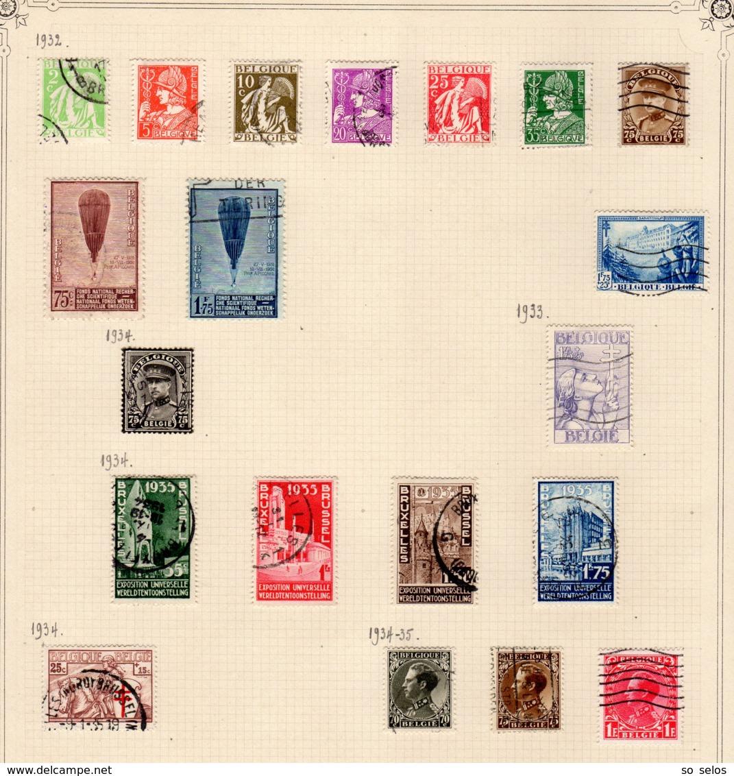 Timbres Belgique     1932/35     Oblitérés  0 - België
