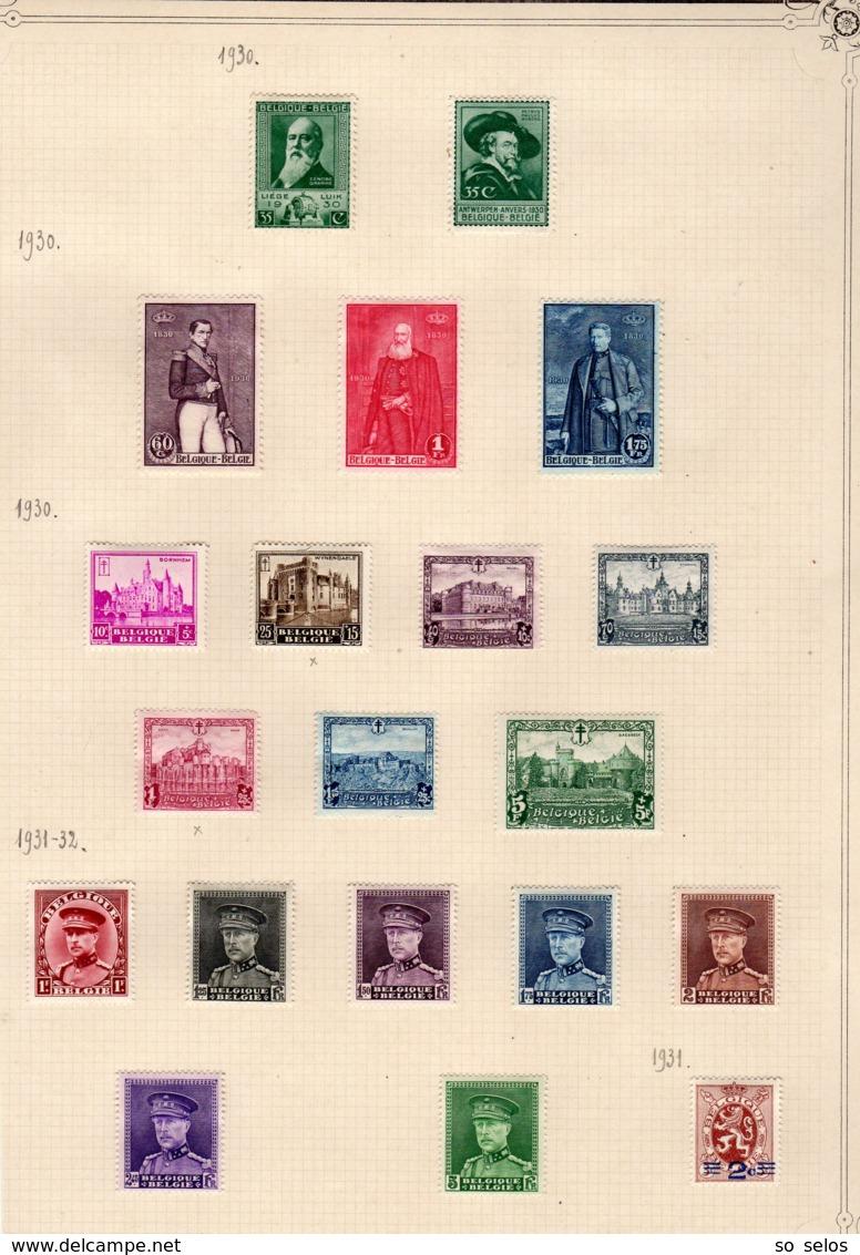 Timbres Belgique  1930/32      Neufs Avec Charniere  X - Belgio