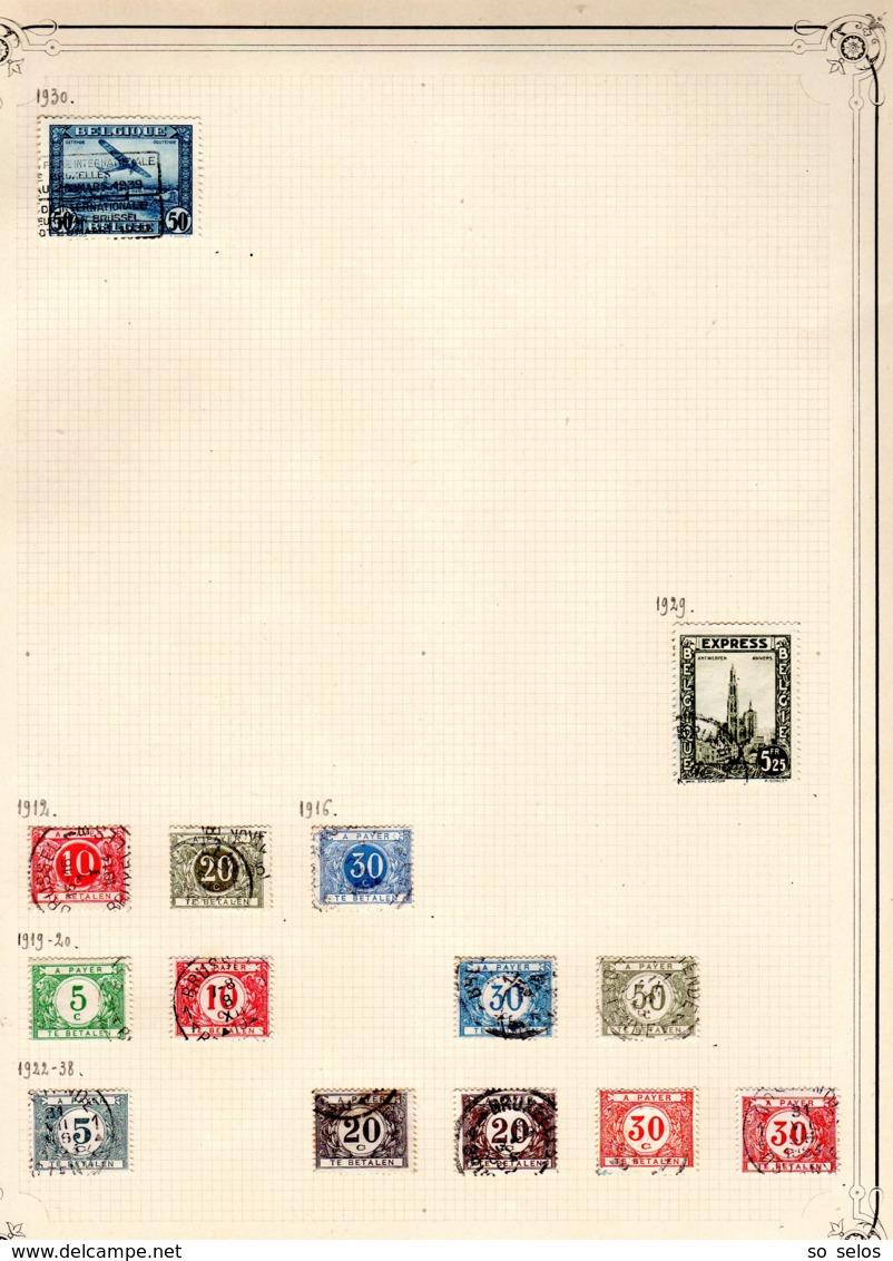 Timbres Belgique     1912/41      Oblitérés  0 - Belgium