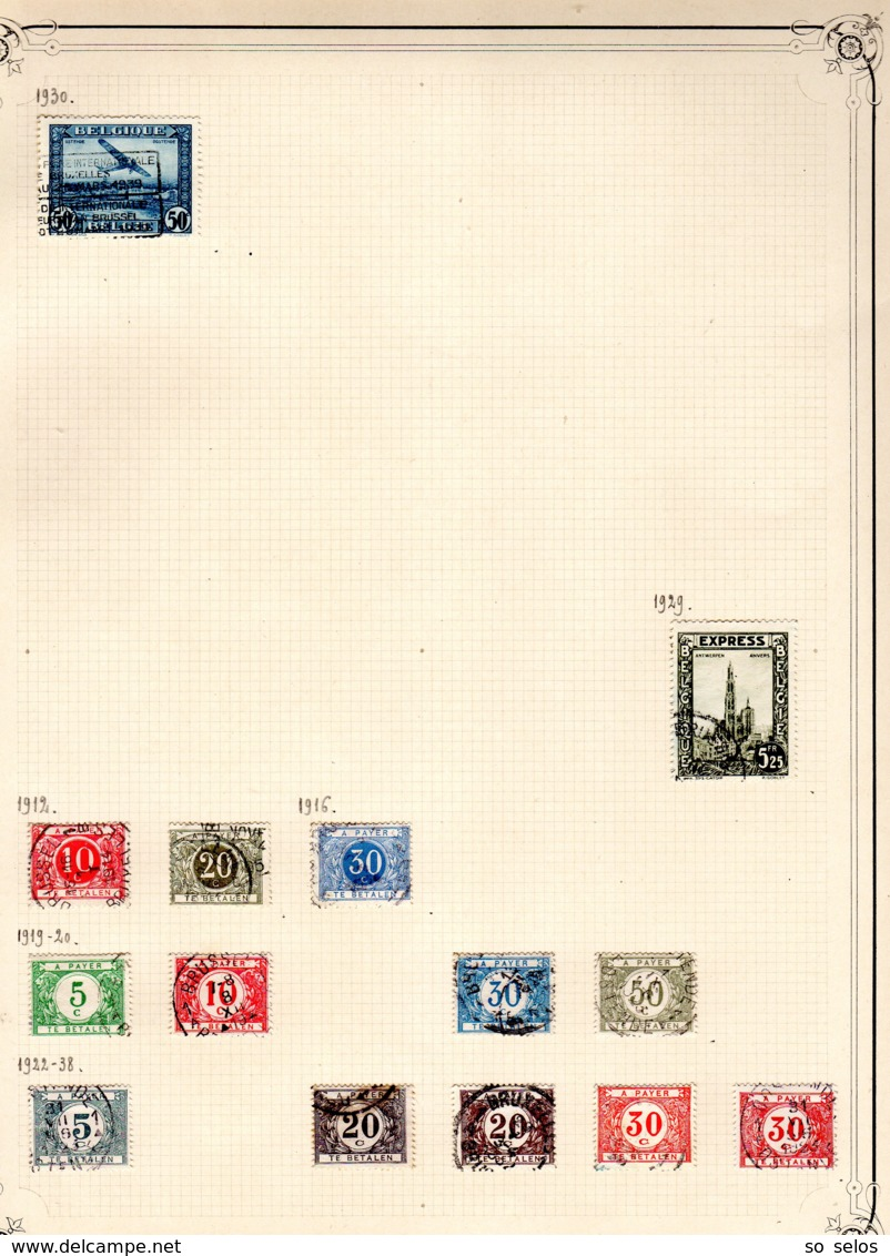 Timbres Belgique     1912/41      Oblitérés  0 - Bélgica