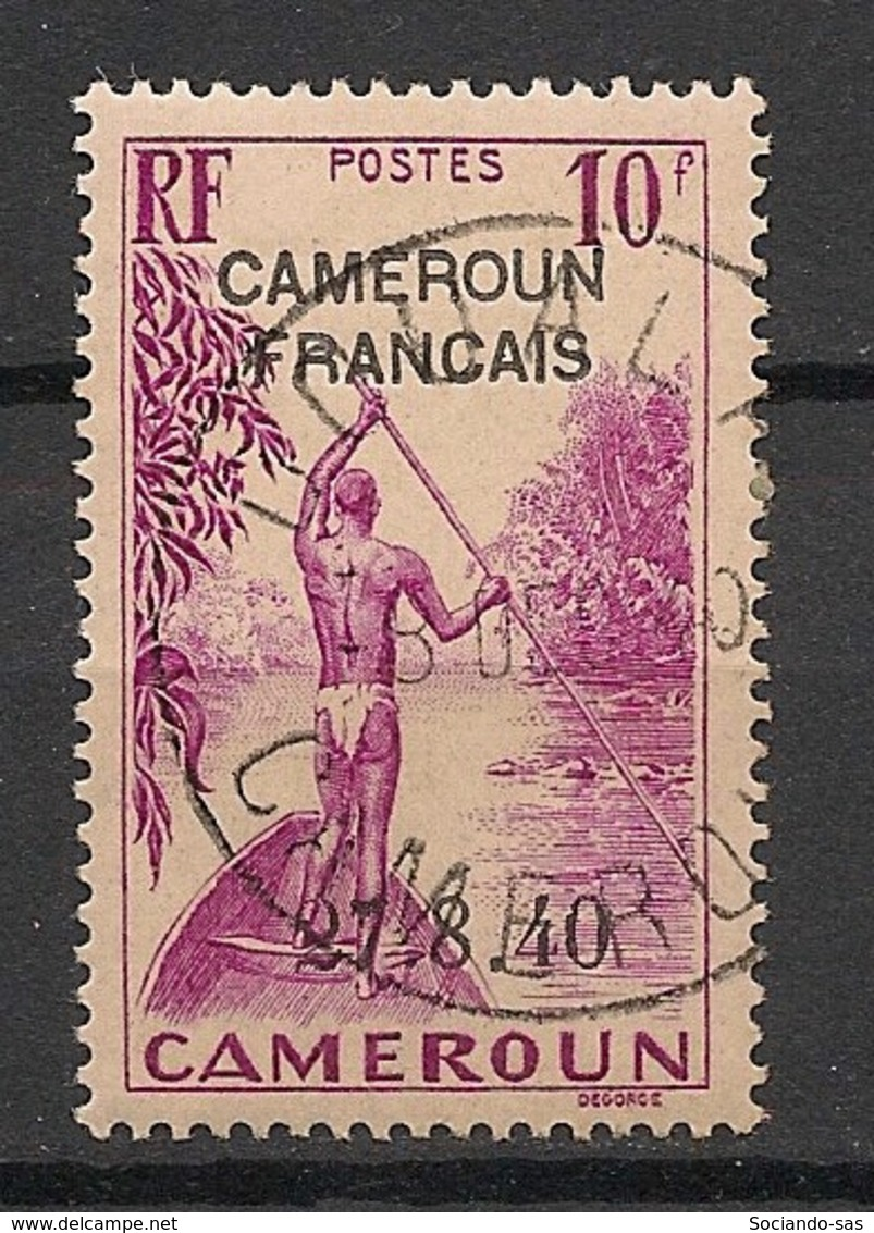 Cameroun - 1940 - N°Yv. 231 - 10f Lilas-rose Surchargé 27.8.40 - Oblitéré / Used - Cameroun (1915-1959)