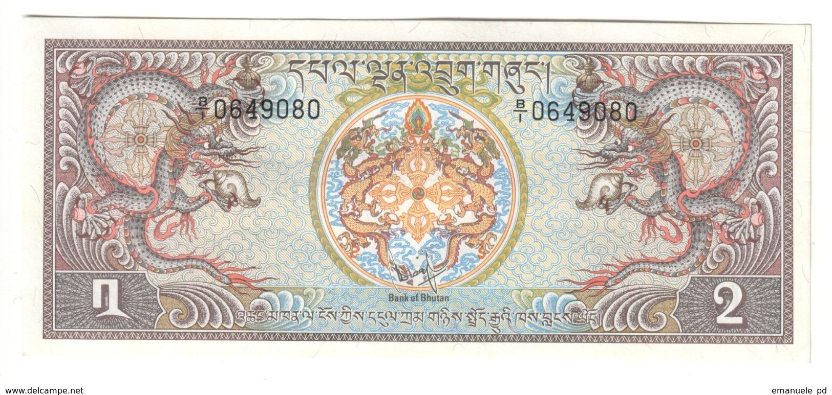 BHUTAN2NGULTRUM1981P6UNC.CV. - Bhutan