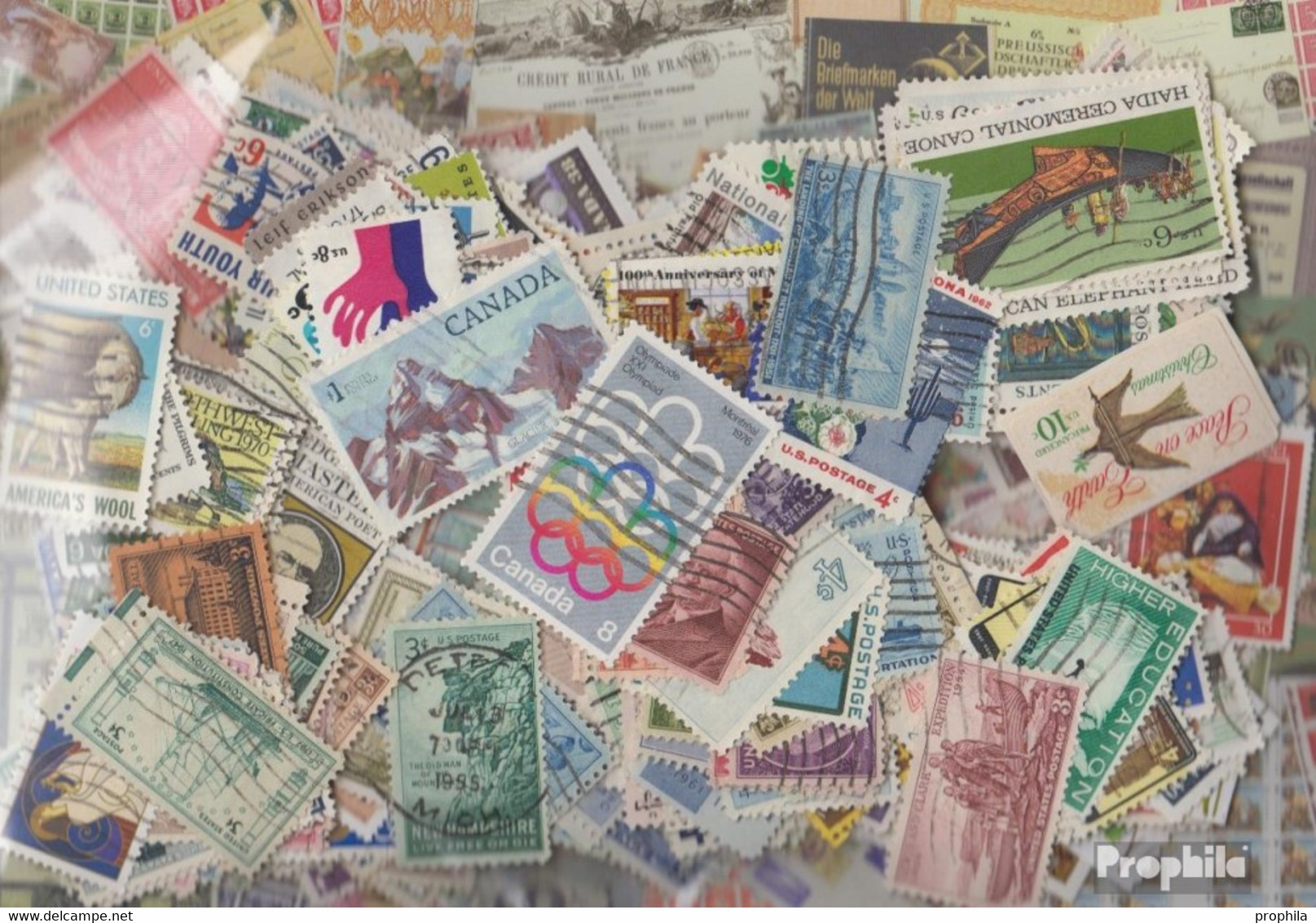 Amerika Briefmarken-500 Verschiedene Marken - Francobolli