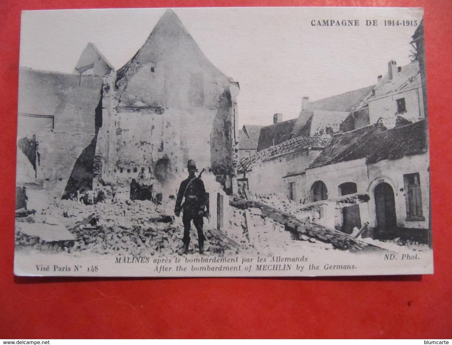CPA - MALINES APRES LE BOMBARDEMENT PAR LES ALLEMANDS - Mechelen