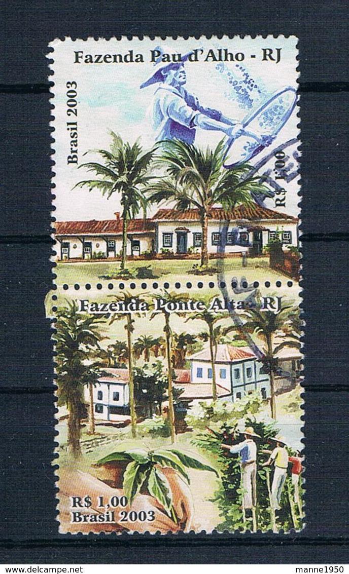 Brasilien 2003 Gebäude 3298/99 Gestempelt - Used Stamps