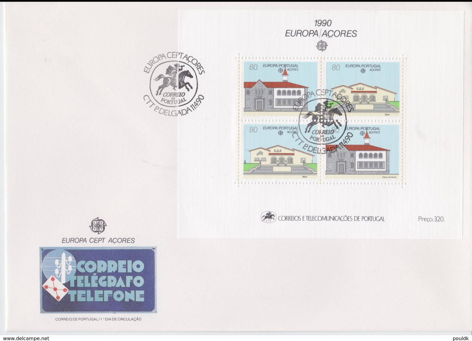 Acores 1990 FDC Europa CEPT Souvenir Sheet (LAR8-44) - Europa-CEPT