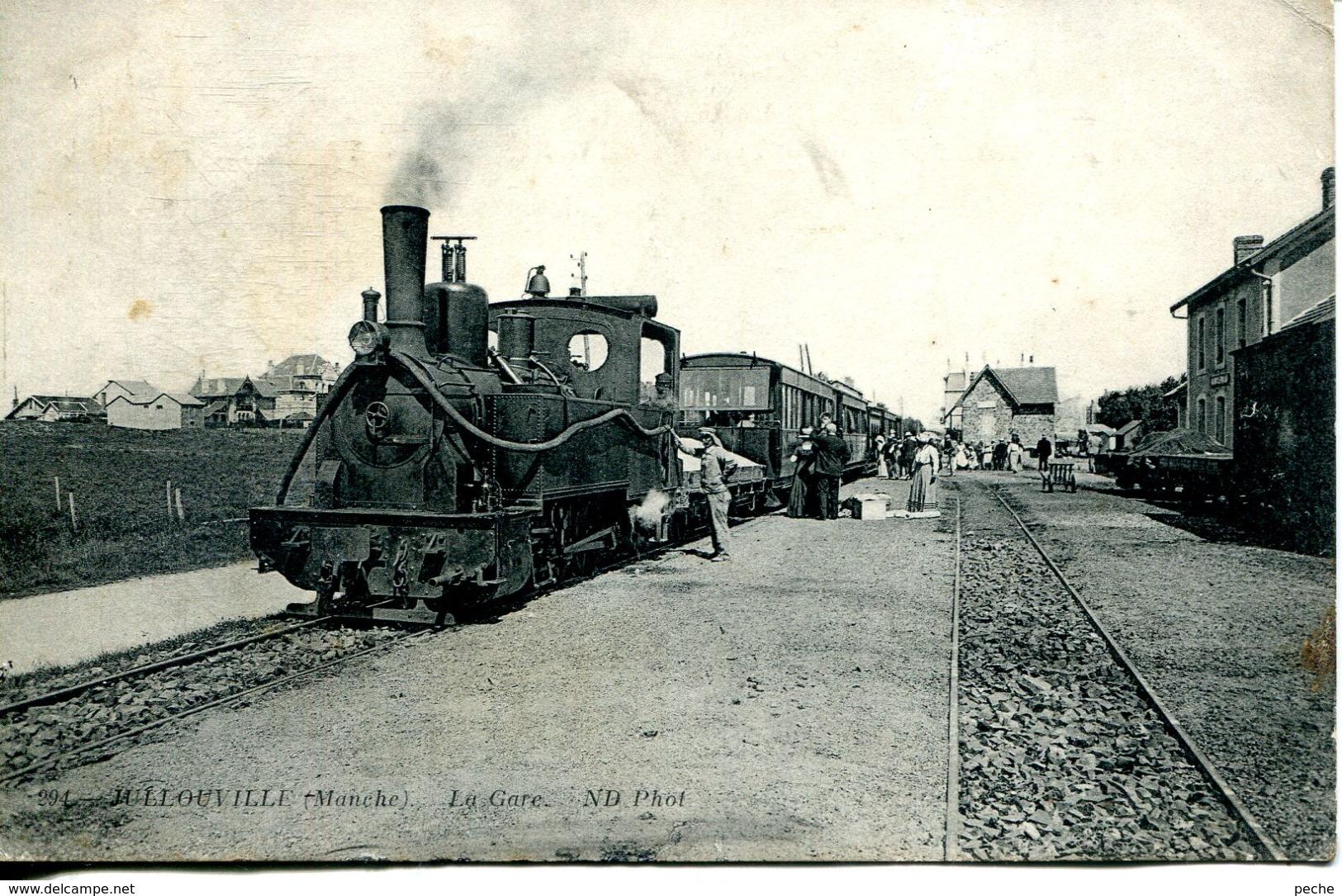 N°77619 -cpa Jullouville -la Gare- - Autres Communes