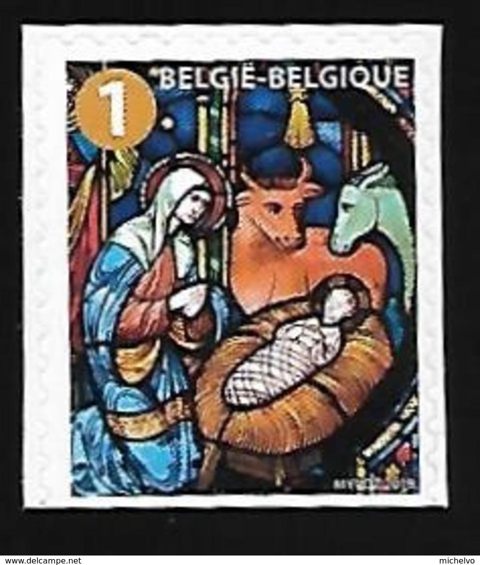 Belg. 2019 - Timbre De Noël ** (non Dentelé En Bas) - Belgium