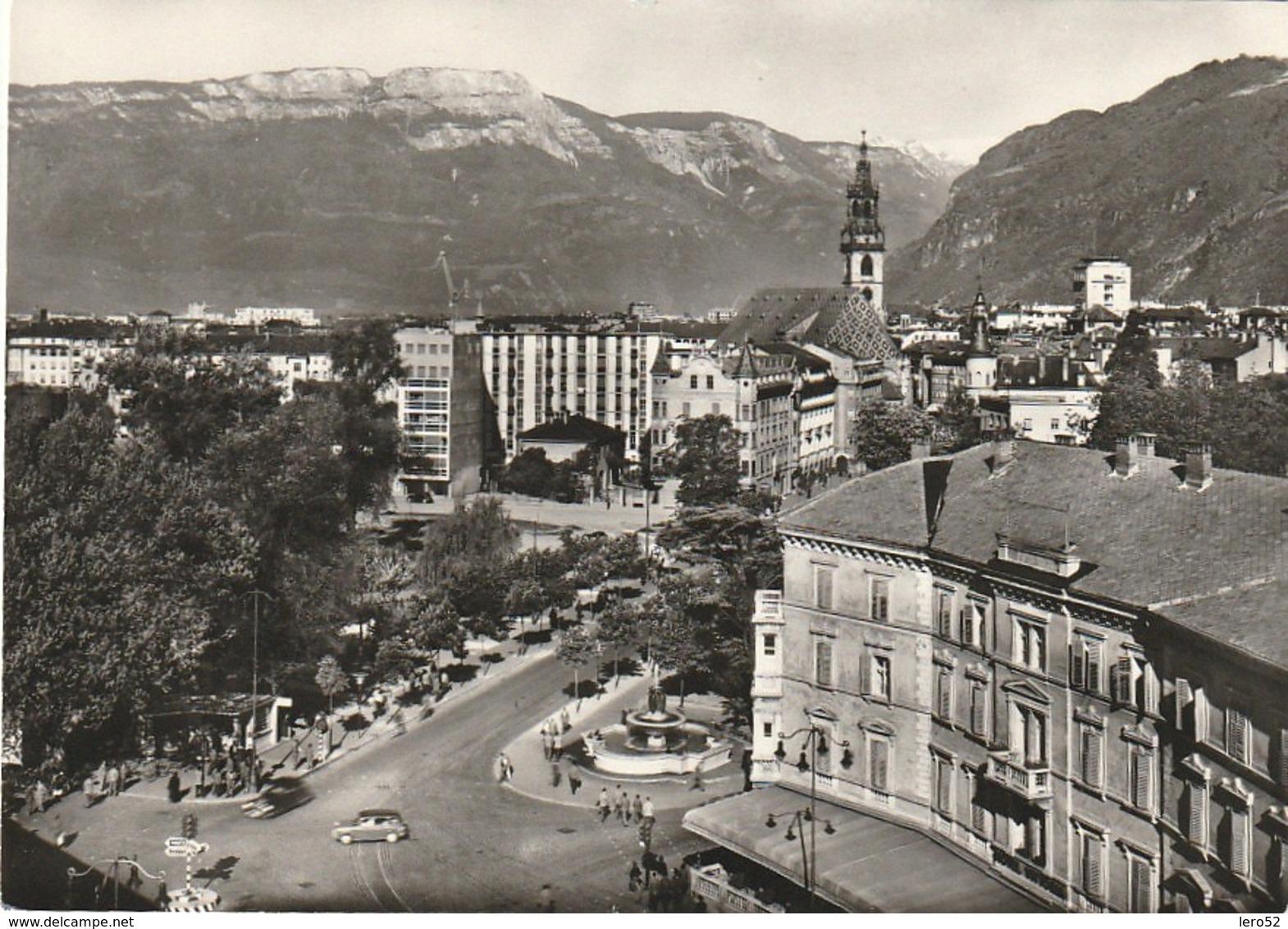 BOLZANO CITTA' ZONA STAZIONE VEDUTA PANORAMICA ANIMATA - Bolzano (Bozen)