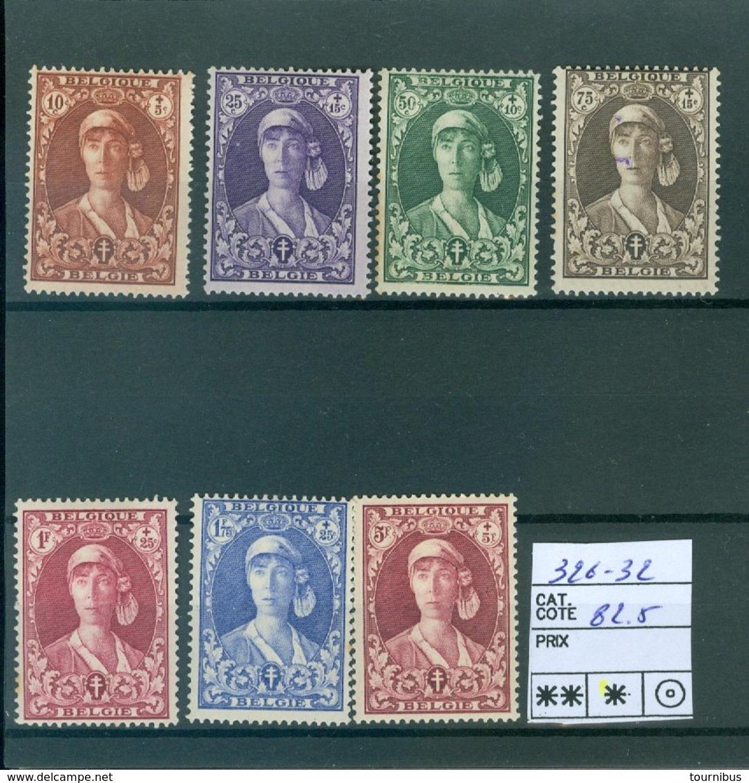 326-332 X COB 92.50€ - Belgium