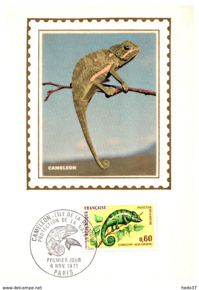 Thème Animaux - Caméléon - France Carte Maximum - Reptiles & Amphibians