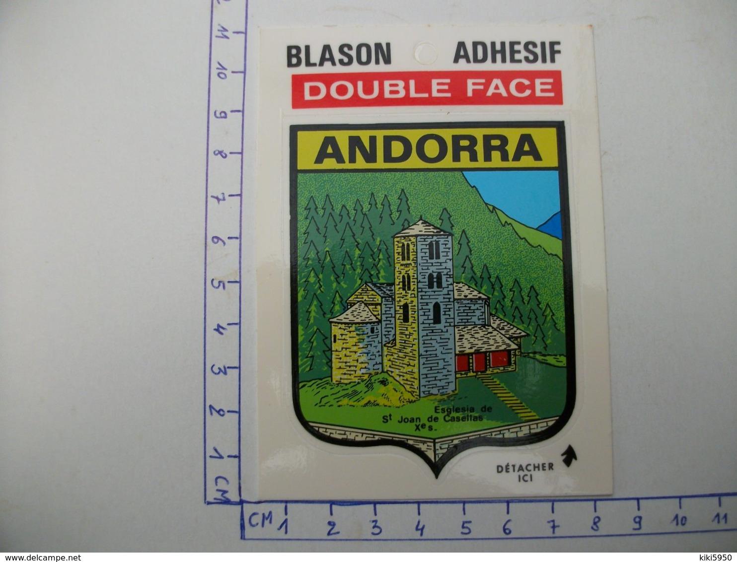 Blason Adhésif  ANDORRE  église De St Joan De Casellas - Andorre