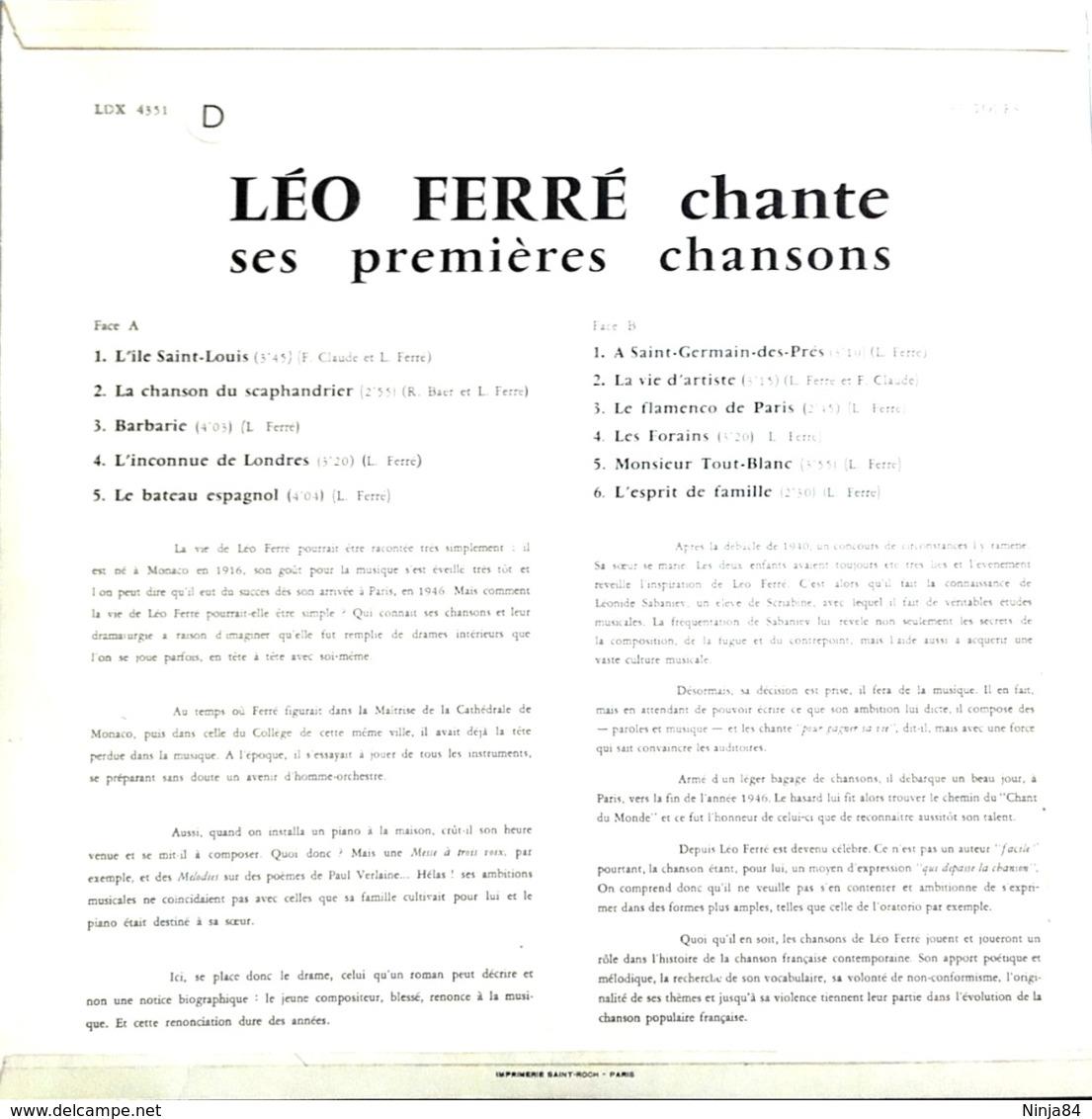 """Léo Ferré  """"  Chante Ses Premières Chansons  """" - Unclassified"""