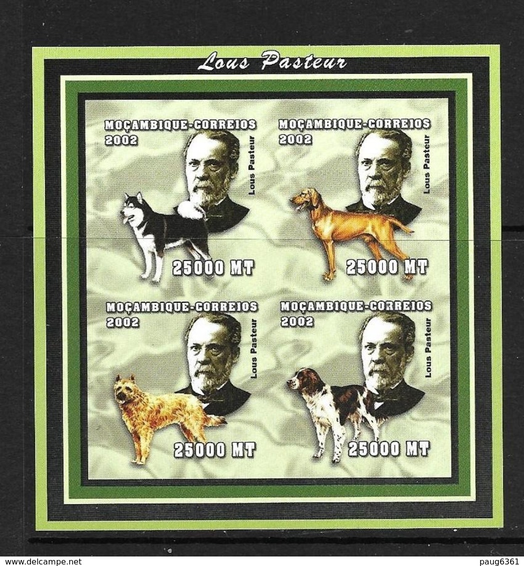 MOZAMBIQUE 2002 PASTEUR-CHIENS  YVERT N°2080/83 NON DENTELE NEUF MNH** - Louis Pasteur