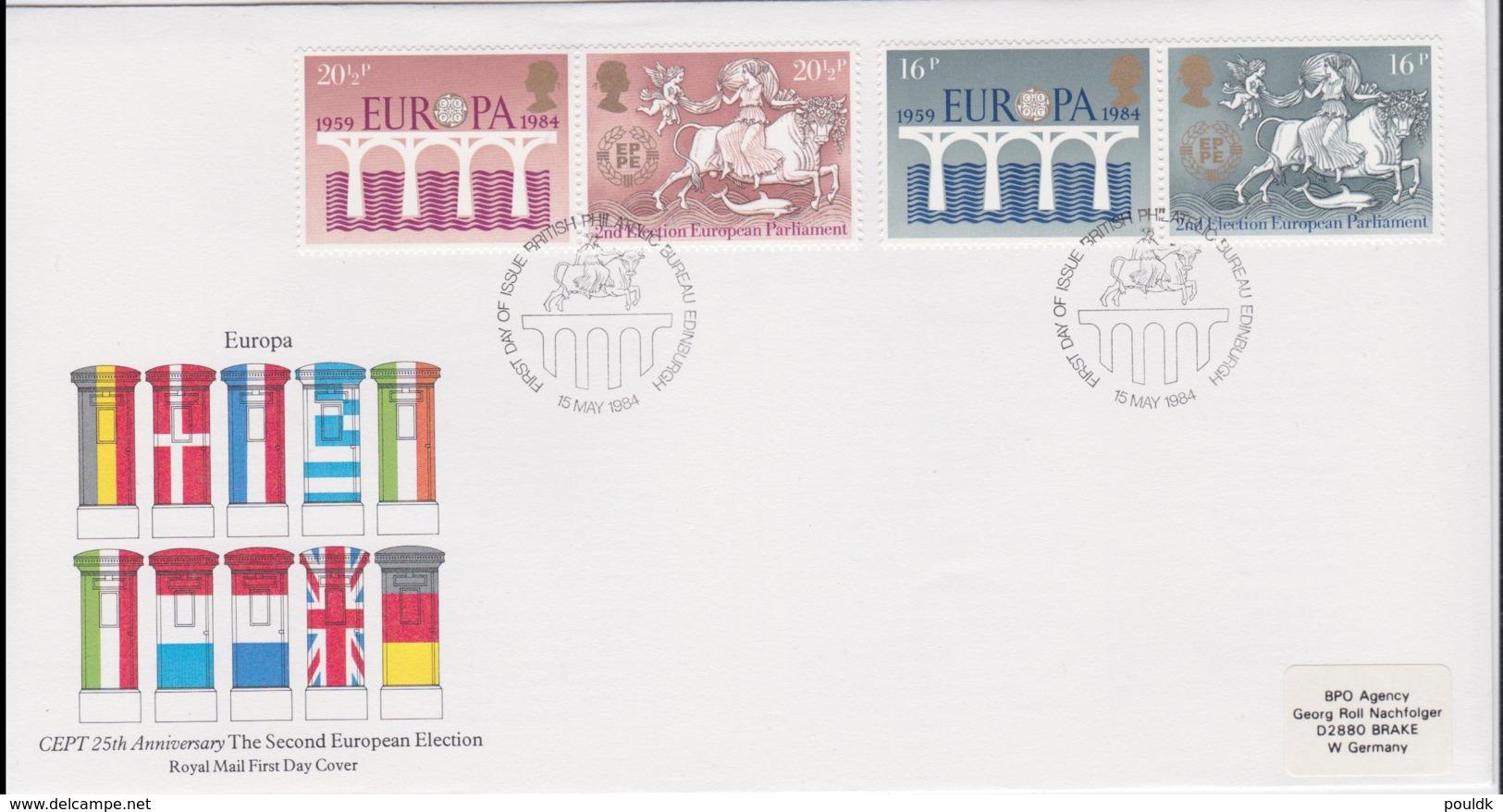 Great Britain 1984  FDC Europa CEPT (NB**LAR8-46) - Europa-CEPT