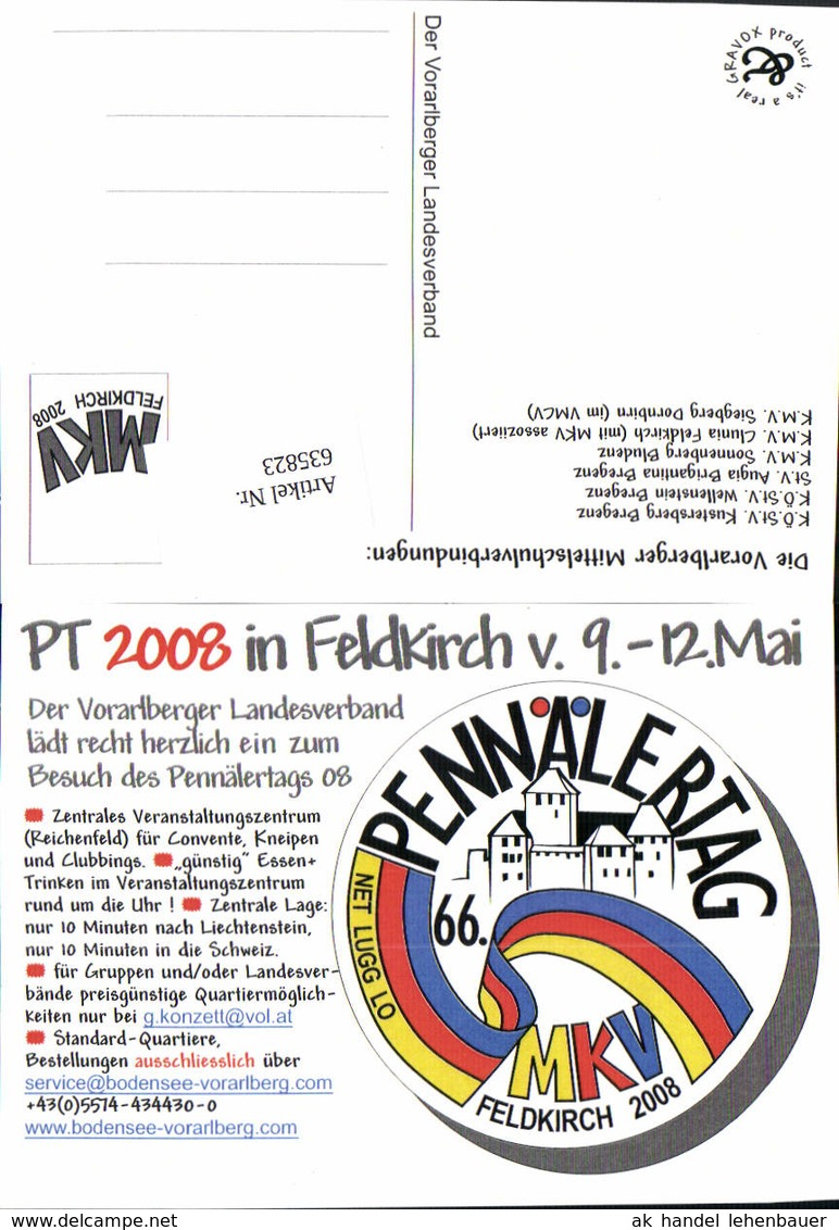 635823,Studentika PT 2008 Feldkirch Pennälertag MKV Vorarlberg - Schulen