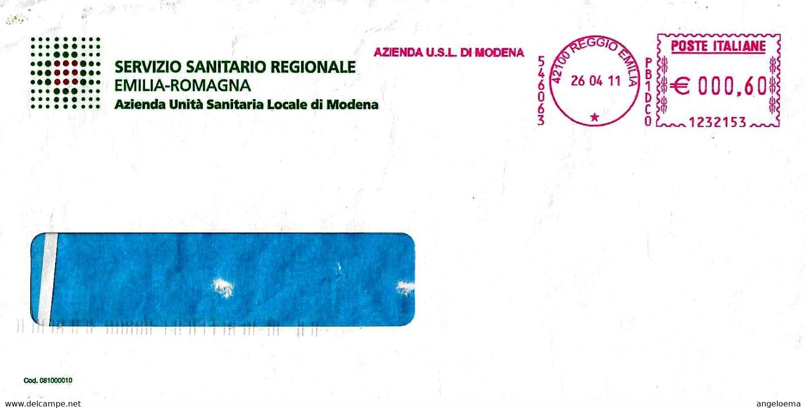 ITALIA - 2011 REGGIO E. Azienda USL Di Modena - Ema Affrancatura Meccanica Rossa Red Meter - Medicina