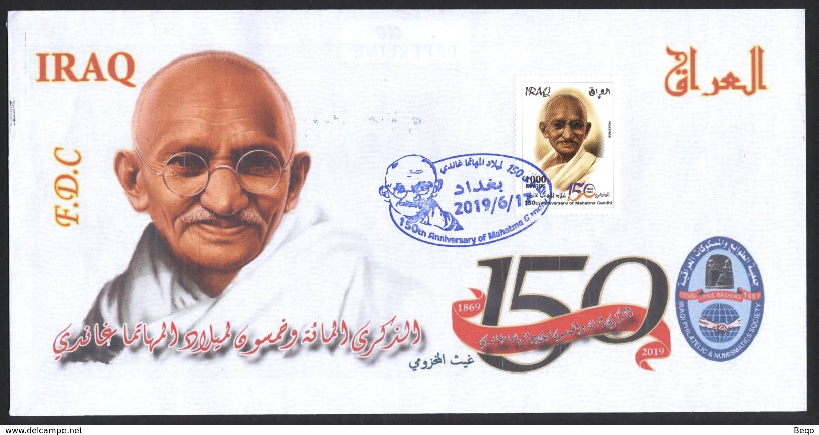 IRAQ 2019 150th Anniversary Of The Mahatma Gandhi India, FDC Refdc583 - Irak