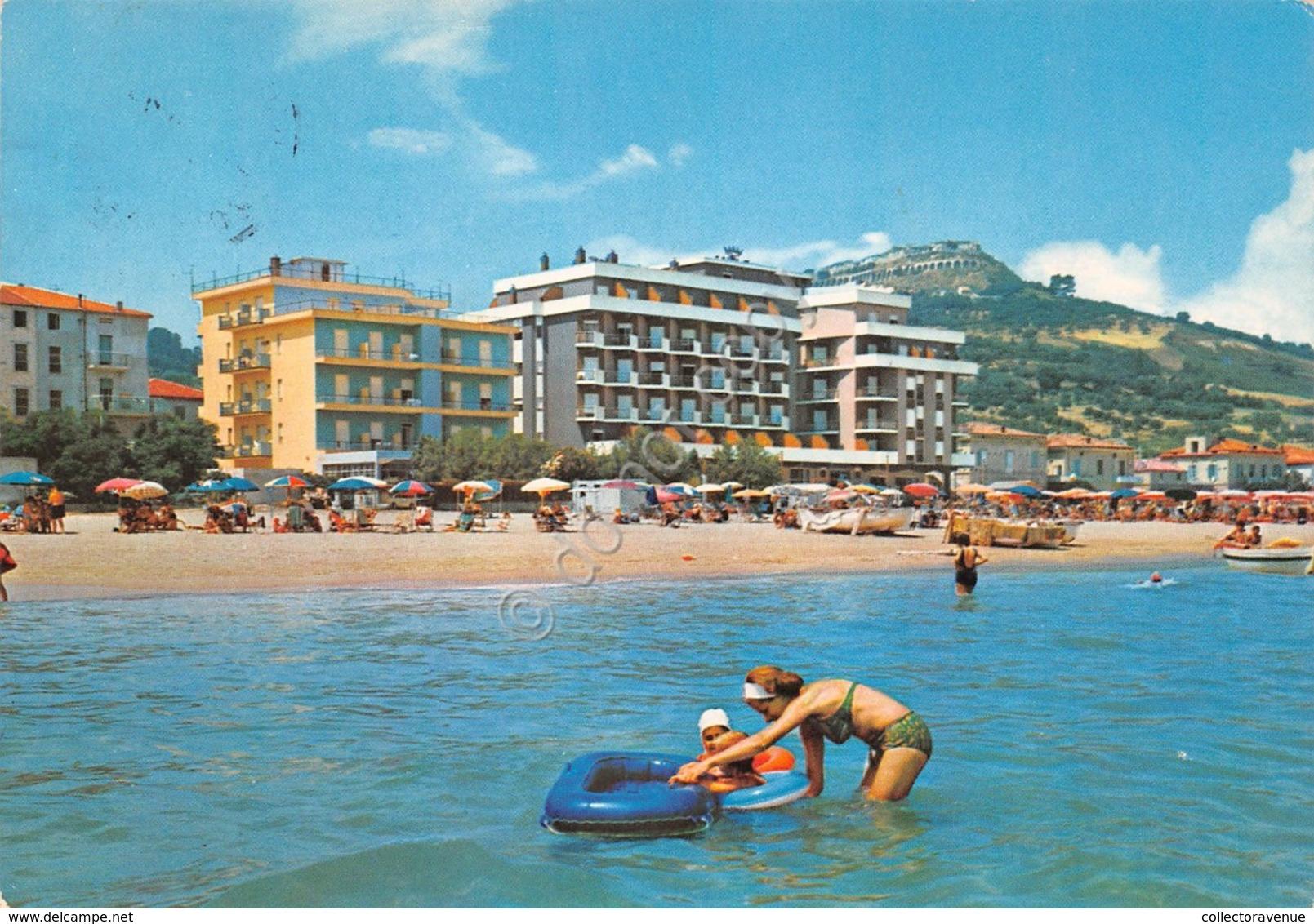 Cartolina Silvi Marina Dal Mare Grandi Alberghi Animata 1979 - Teramo