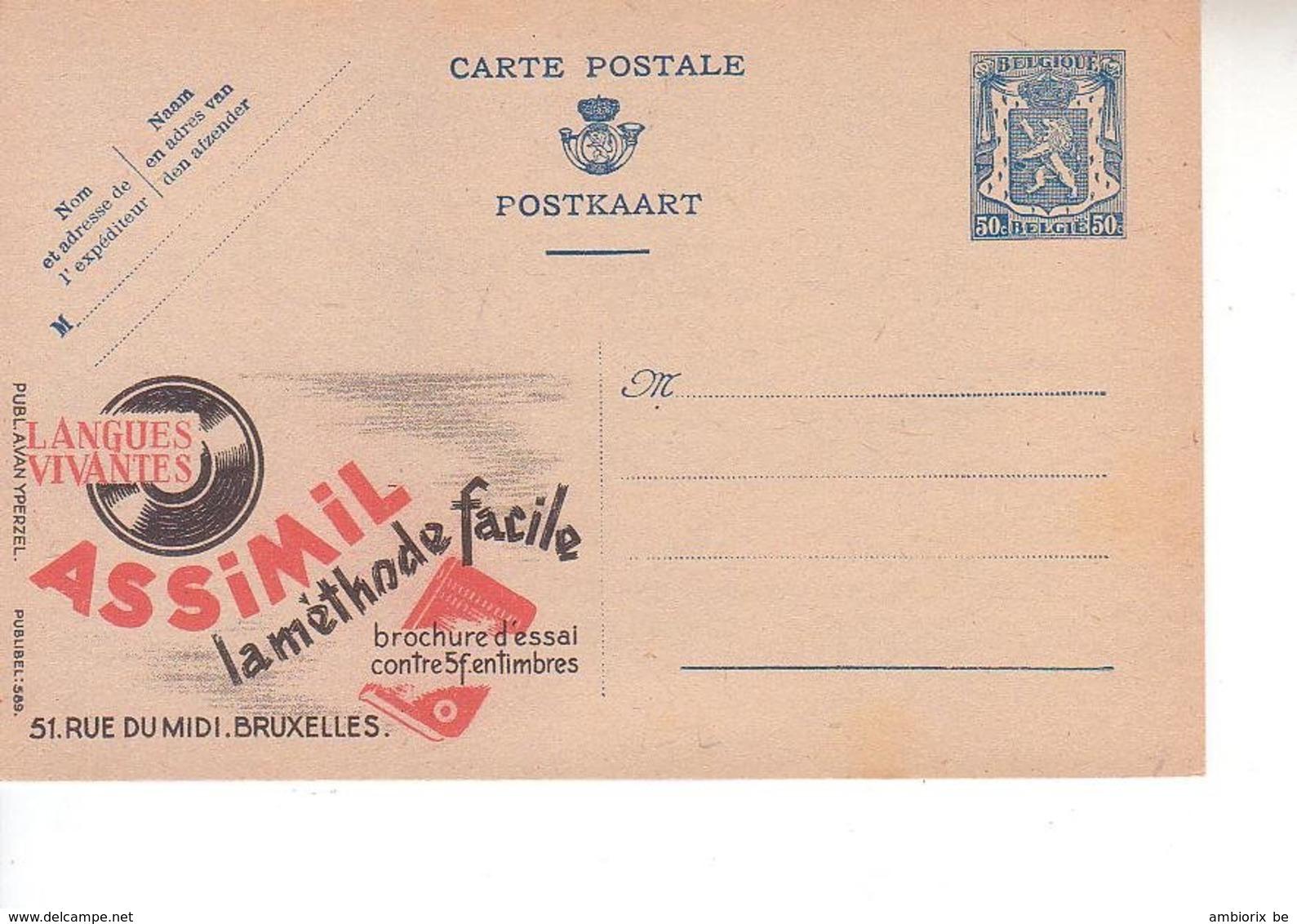 Publibel Neuf 589 - Enteros Postales