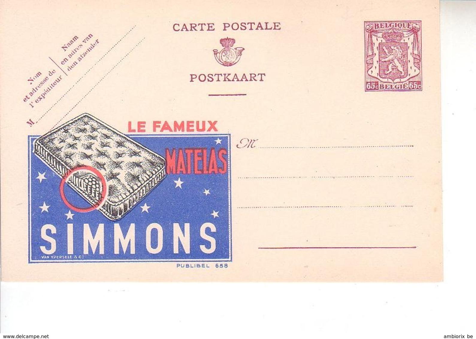 Publibel Neuf 658 - Entiers Postaux