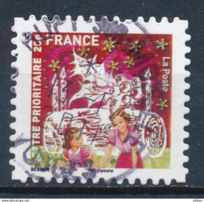 France - Meilleurs Voeux 2010 YT A504 Obl. Cachet Rond Manuel - Sellos Autoadhesivos