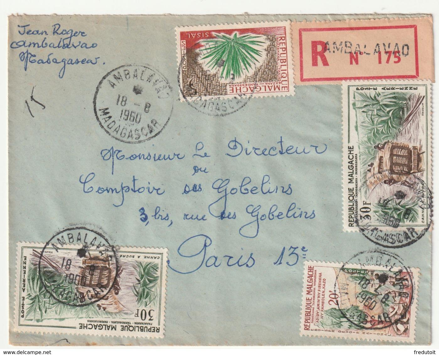 MADAGASCAR - LETTRE Recommandée : Ambalavao  Le 18/08/1960 - Madagascar (1960-...)