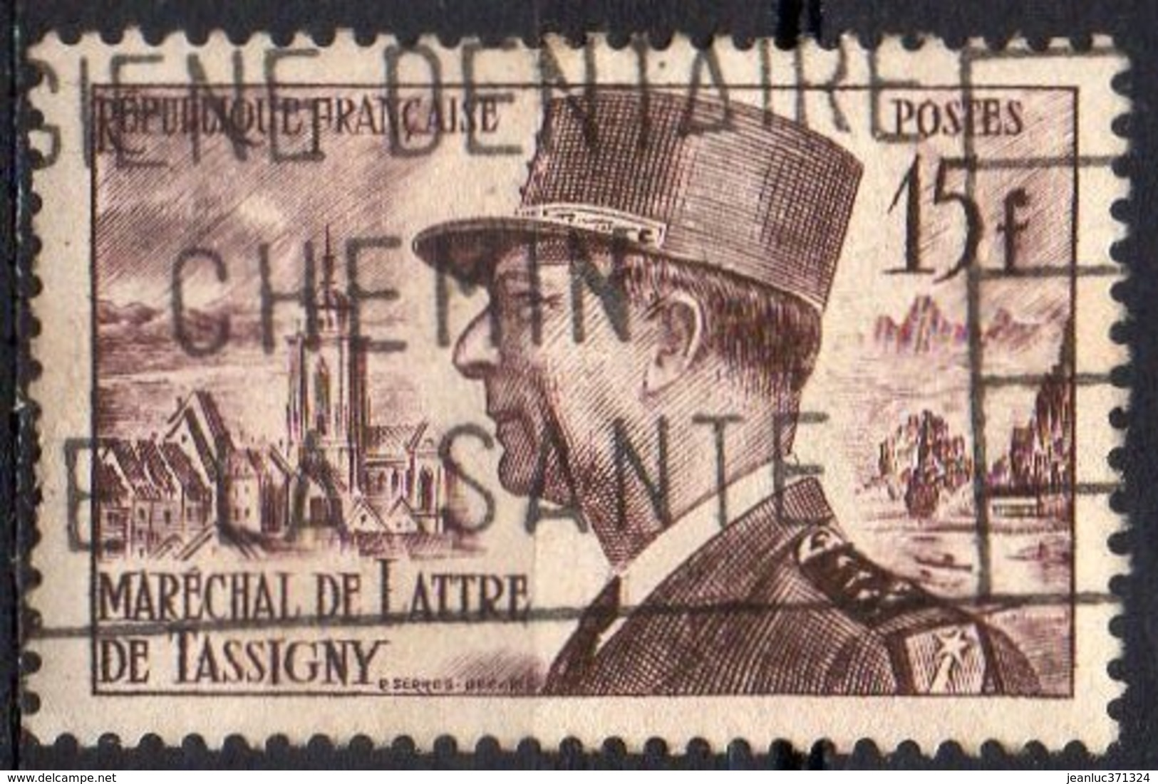 FRANCE N° 920 O Y&T 1952 Maréchal De Lattre De Tassigny - France