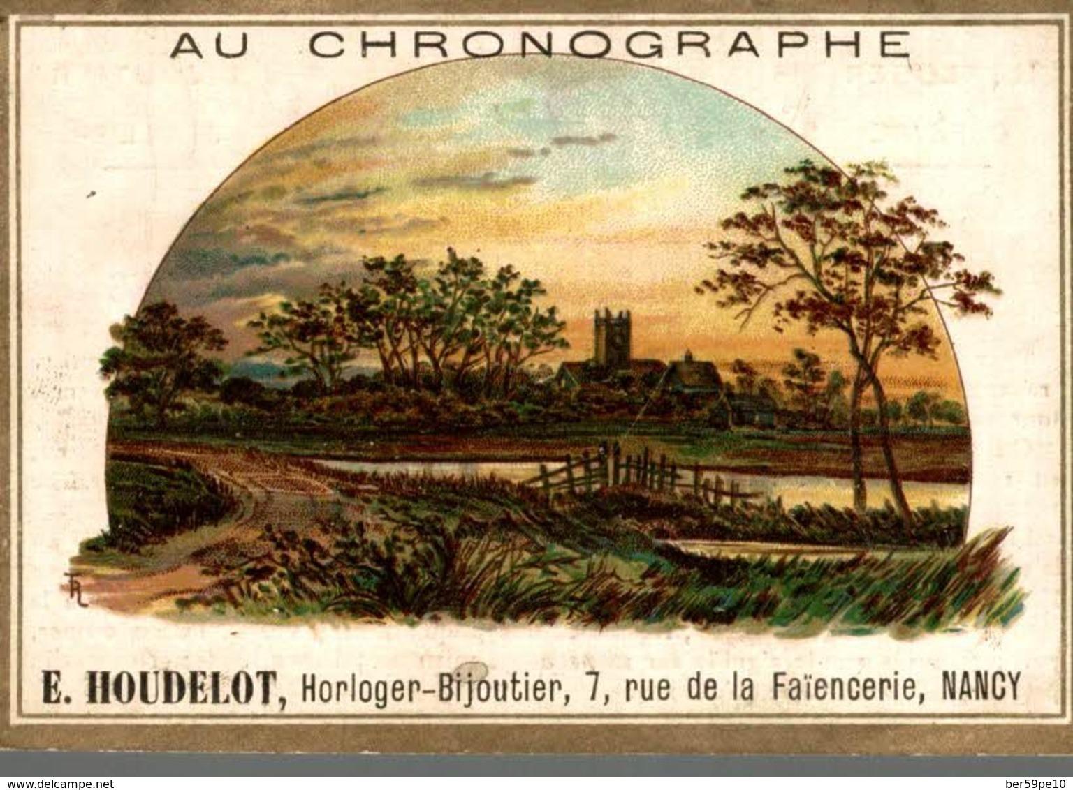 CHROMO  AU CHRONOGRAPHE E. HOUDELOT NANCY  LE CHATEAU A LA CAMPAGNE - Chromos