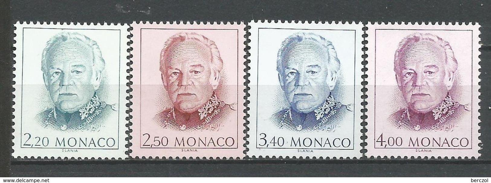 MONACO ANNEE 1991 N° 1779 A 1782 NEUFS** NMH - Monaco