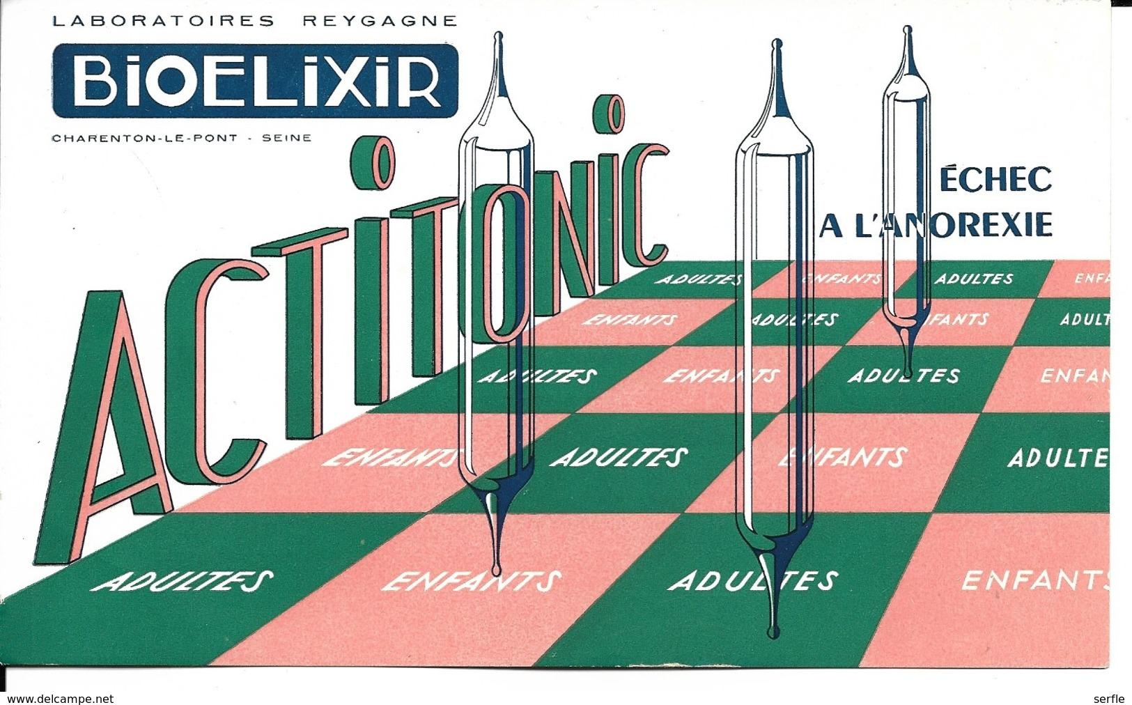 Buvard Publicitaire - Produit Pharmaceutique - Bioelixir (échec à L'anorexie) - Produits Pharmaceutiques