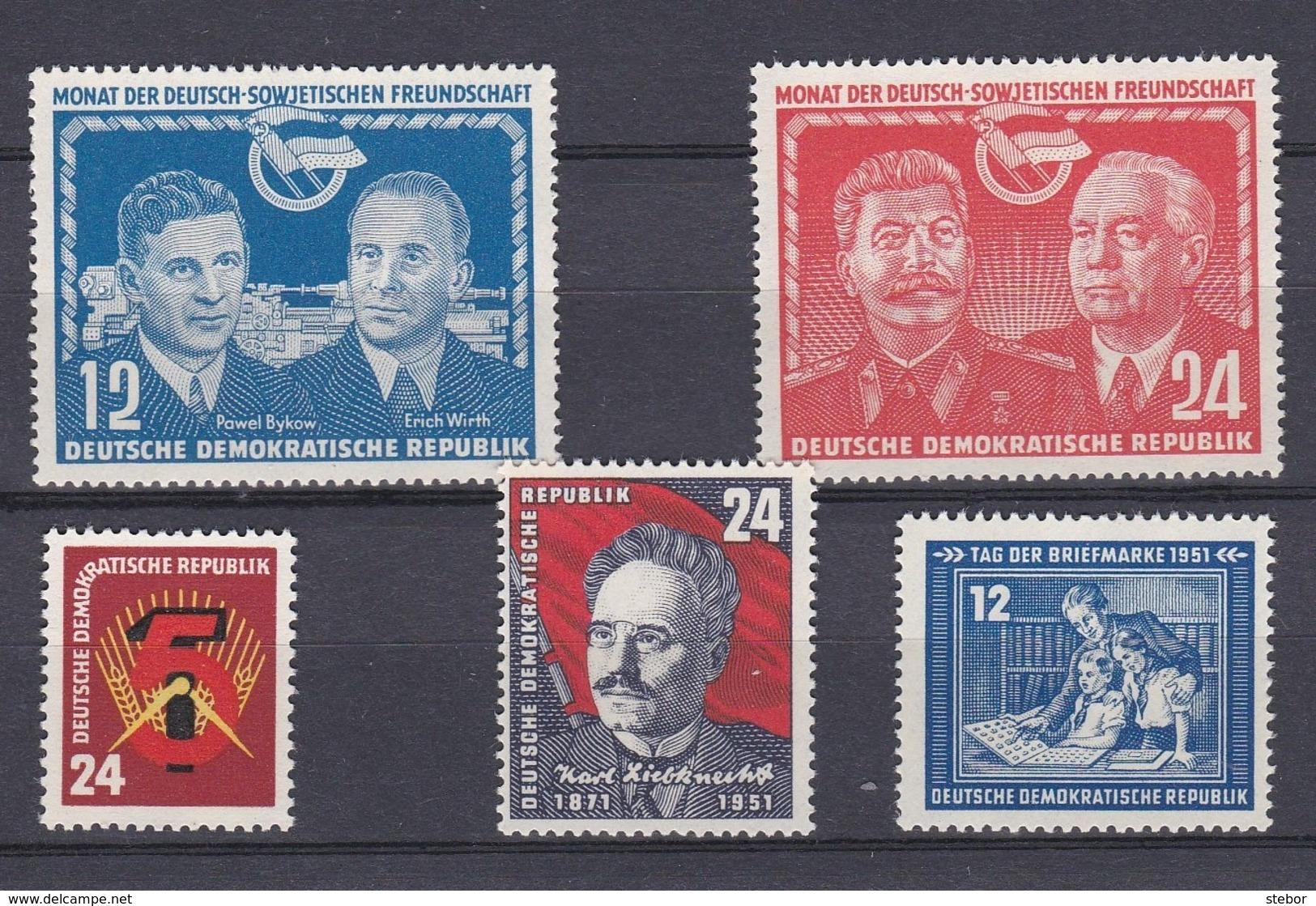 DDR Kleine Verzameling 1951 Nr 45/49 *, Zeer Mooi Lot Krt 4172 - Francobolli