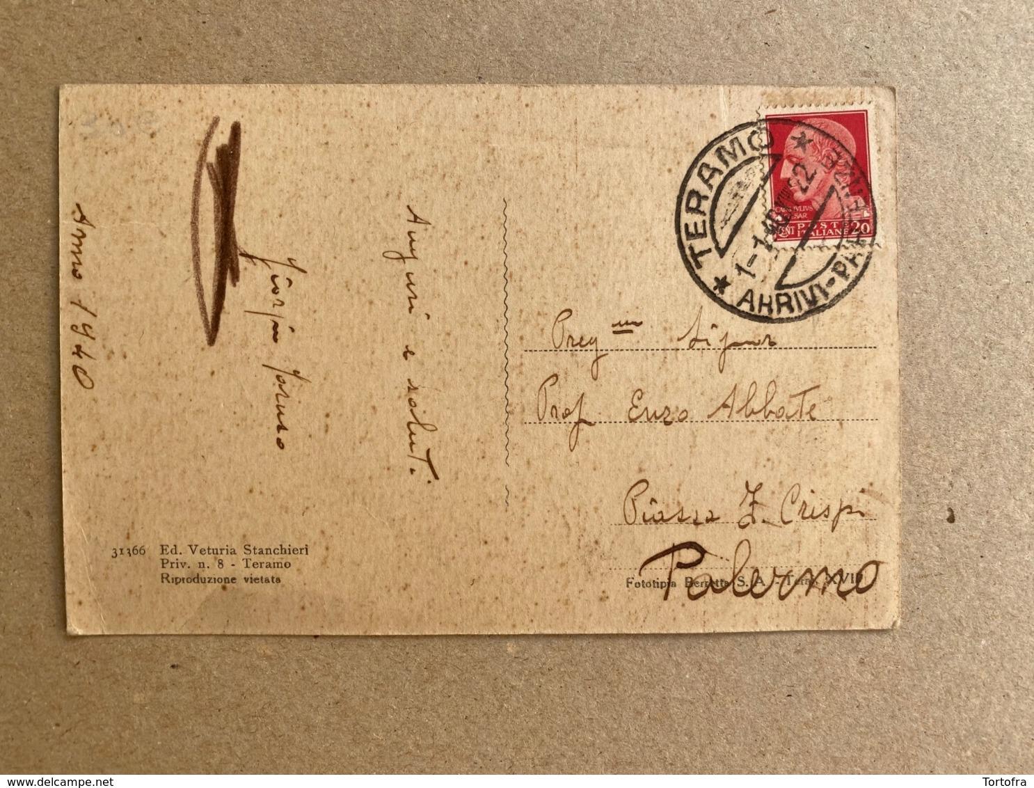 TERAMO PIAZZA ROMA  1940 - Teramo