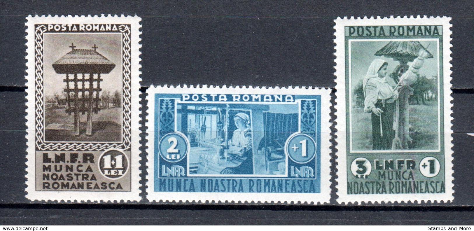 Romania 1934 Mi 465-467 MNH - 1918-1948 Ferdinand, Charles II & Michael