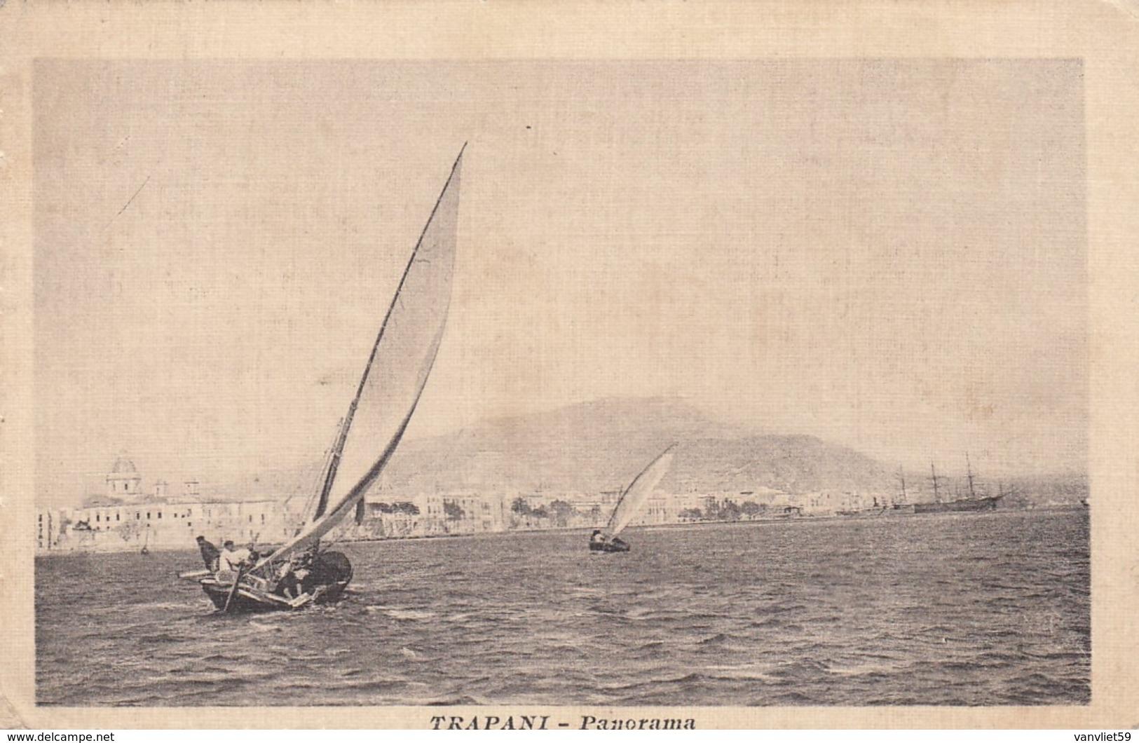 TRAPANI-PANORAMA-CARTOLINA VIAGGIATA IL 31-8-1917 - Trapani