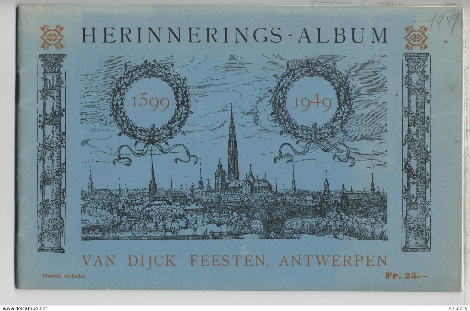 Herinneringsalbum Van Dijckfeesten 1599-1949 - Boeken, Tijdschriften, Stripverhalen