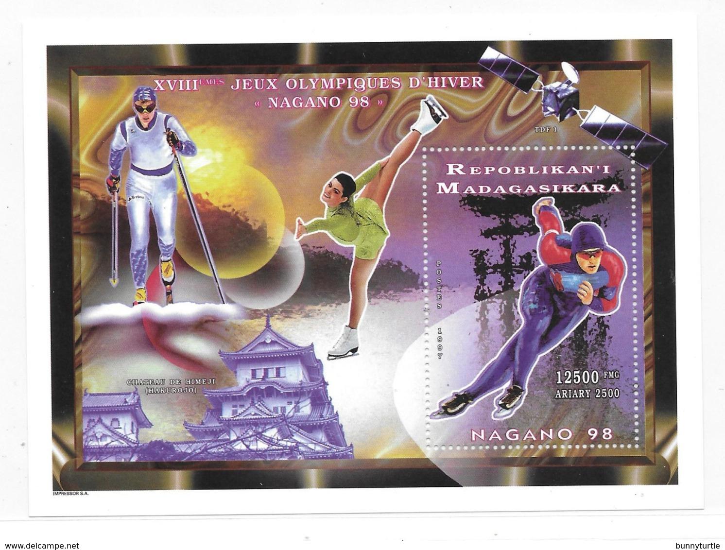 Malagasy 1997 Winter Olympics Nagano S/S MNH - Madagascar (1960-...)