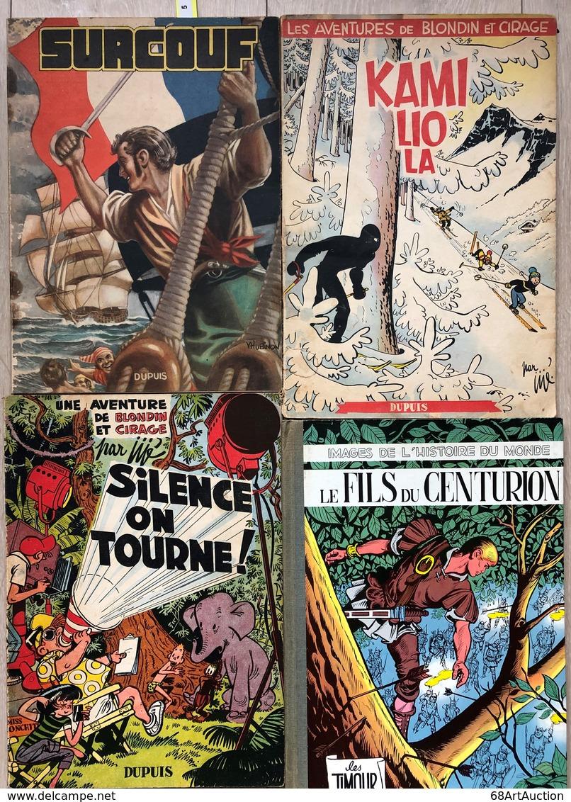 Ensemble De 4 Albums Dupuis. Jigé/Blondin & Cirage.  Tomes 7 & 8, EO De 1954.  Extérieurs En Bel état D'origine Avec Pet - Libros, Revistas, Cómics