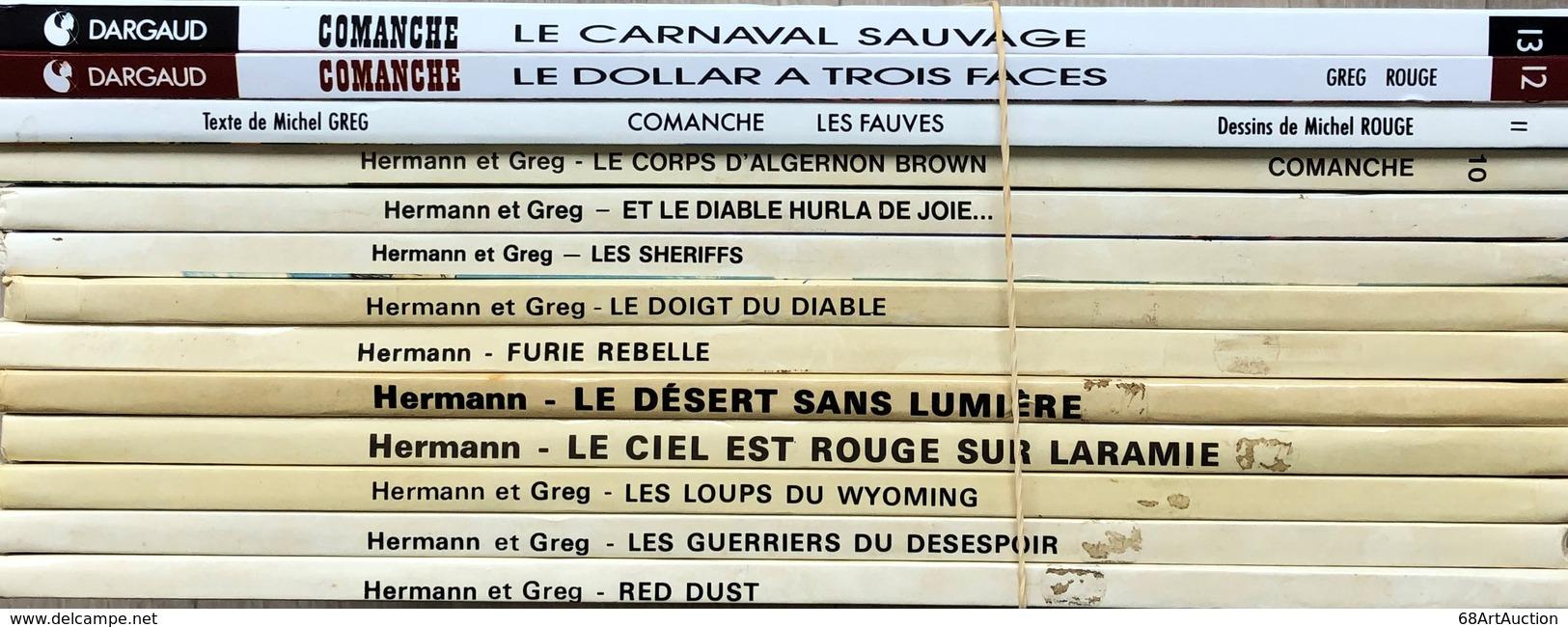 Hermann/Rouge/Commanche.  Ensemble Des 13 Premiers Tomes.  TBE+ -Tomes 1, 2, 3 + 6: éditions Des Années 70 -Tomes 4, 5 + - Libros, Revistas, Cómics