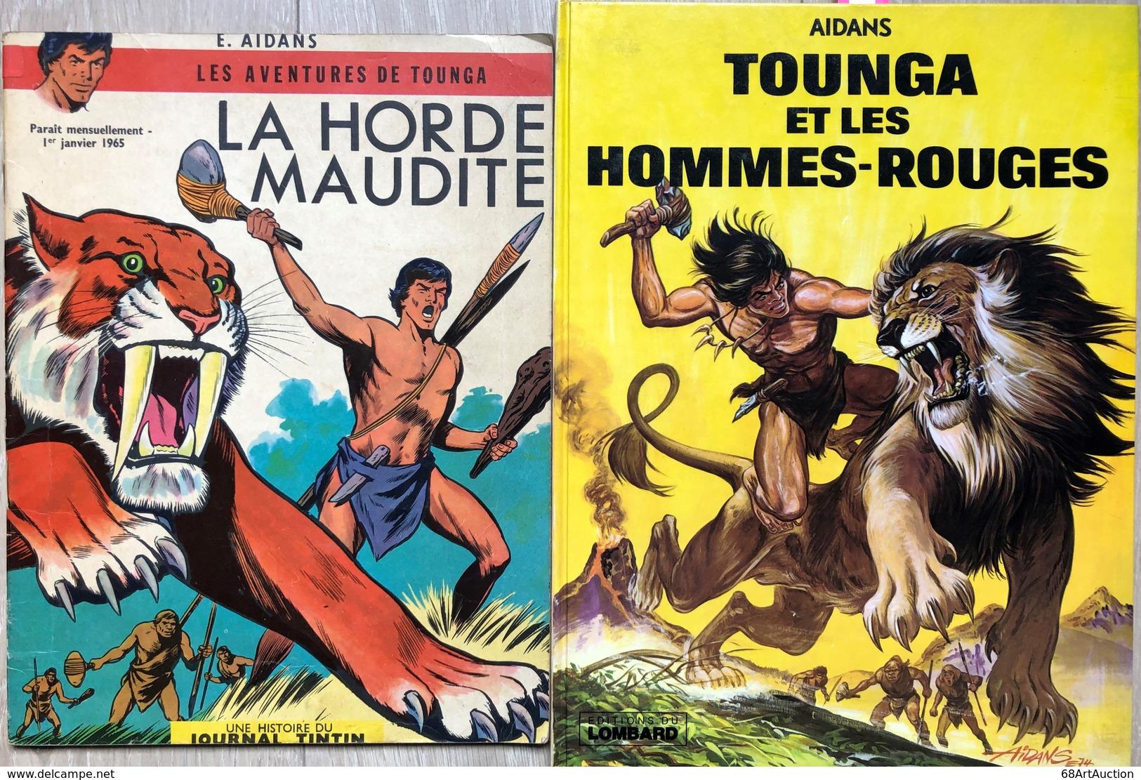 Tounga/Aidans.  Ensemble De 15 Albums: Tome 1: EO De 1964.  BE Avec Usures Des Plats, Intérieur En TBE+ 2e Série: Tomes  - Libros, Revistas, Cómics