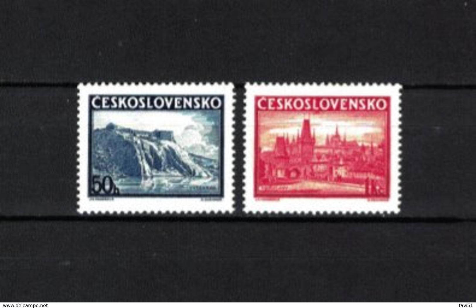 TSCHECHOSLOWAKEI , Czechoslovakia , 1938 , ** , MNH , Postfrisch , Mi.Nr. 398 - 399 - Nuovi