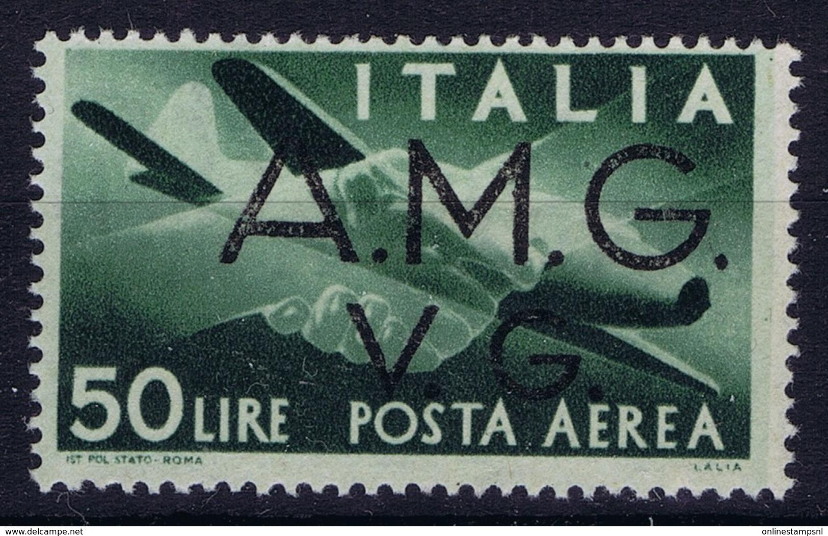 Italy: AMG-VG Sa PA 8 Broken G In VG MH/* Flz/ Charniere - Ongebruikt