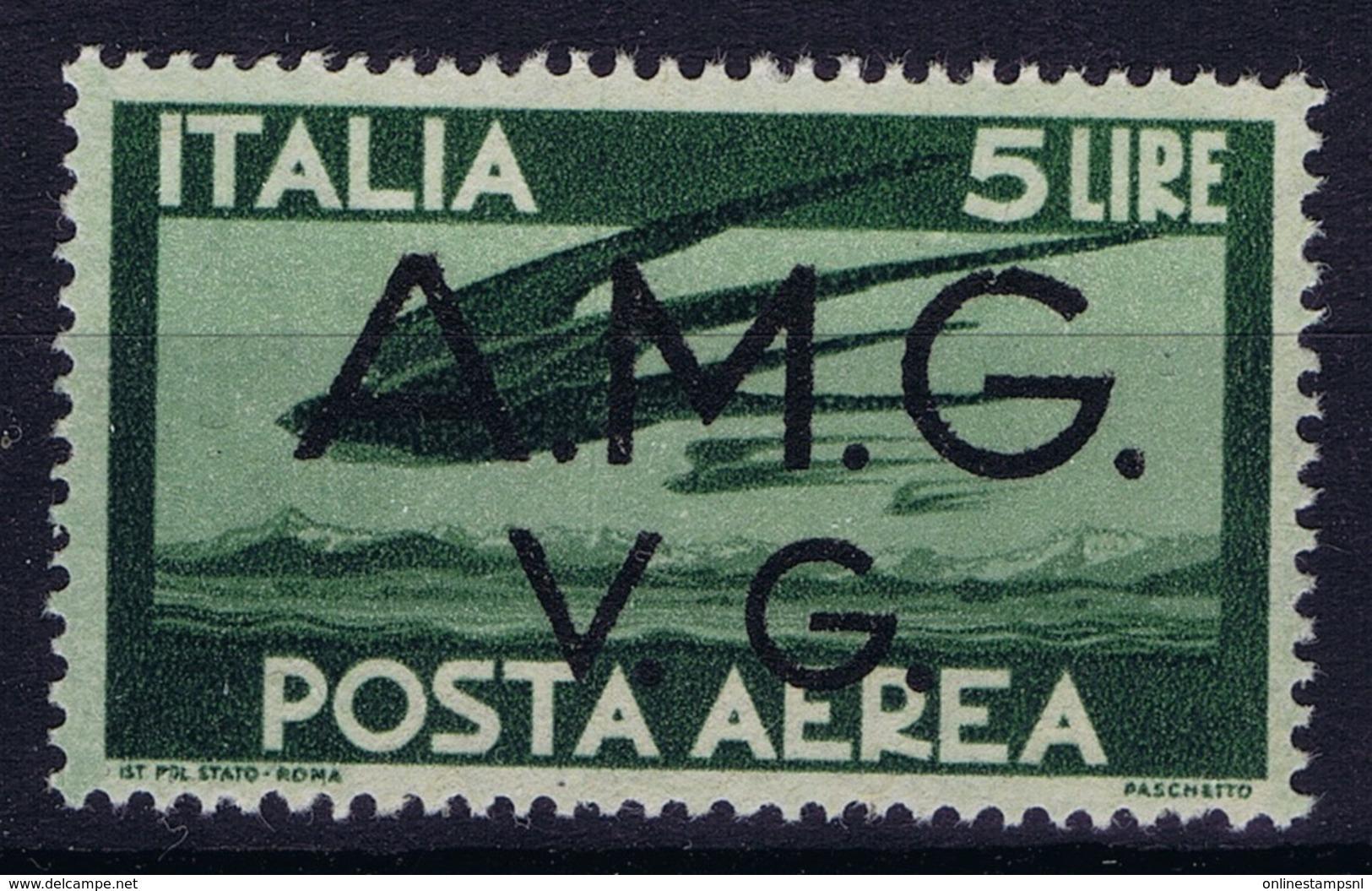 Italy: AMG-VG Sa PA 4 Broken G In AMG MH/* Flz/ Charniere - Ongebruikt